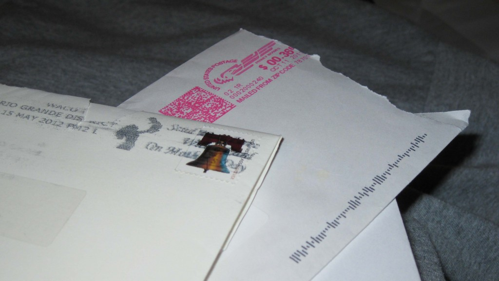 US Postage Mail Letters