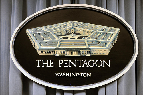 Photo of the Pentagon Logo in Washington, D.C.