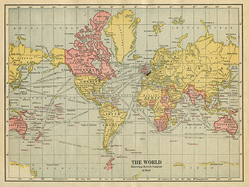 The World Showing British Empire in Red by Eric Fischer, on Flickr