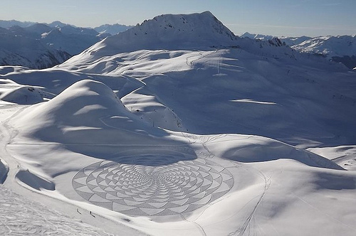 Crop Circles in the Snow