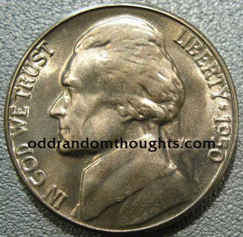 1950D Jefferson Nickel